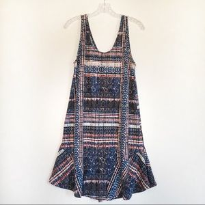 Puella dress stained glass sleeveless blue red